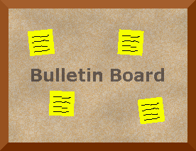 Image of cork bulletin board